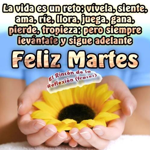 La vida es un reto; vivela, siente, ama, ríe... Feliz Martes