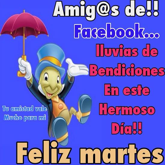 Amig@s de Facebook... Lluvias de...