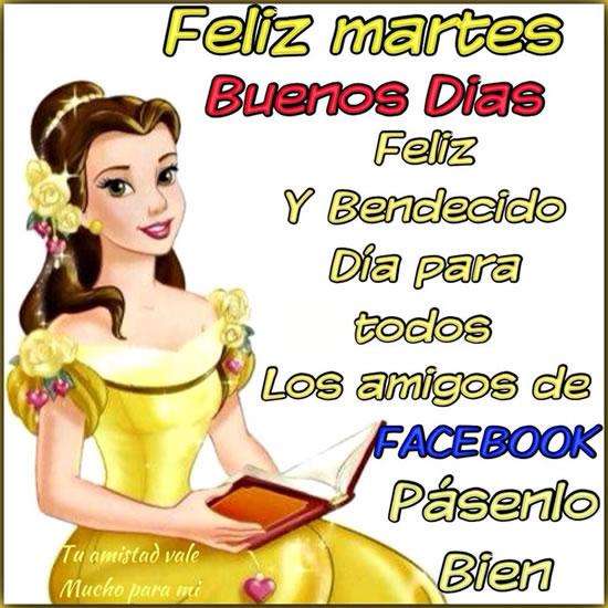 Feliz martes, buenos días. Feliz y Bendecido día para todos los amigos de Facebook
