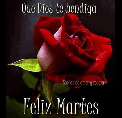 Que Dios te bendiga. Feliz Martes