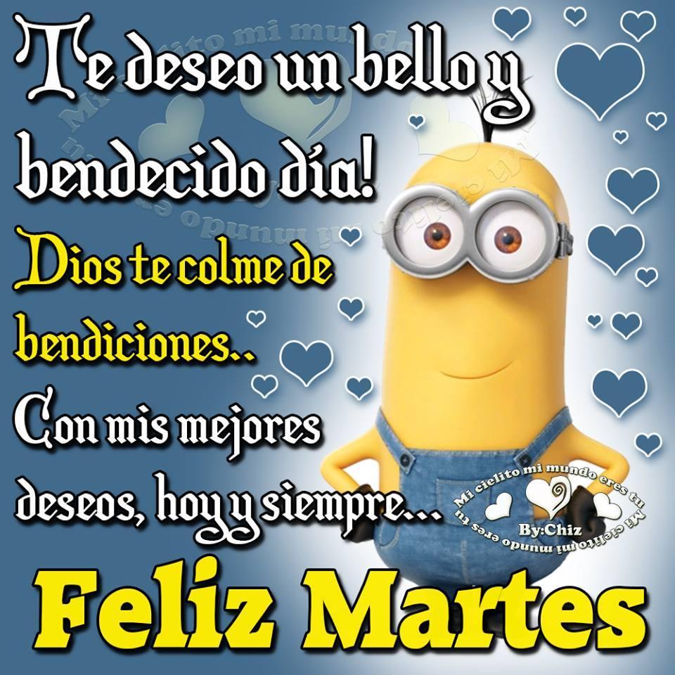 Te deseo un bello y bendecido día! Feliz Martes