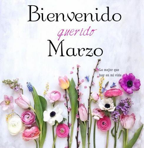 Bienvenido querido Marzo