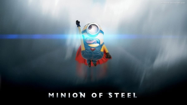 Minion volando como superman