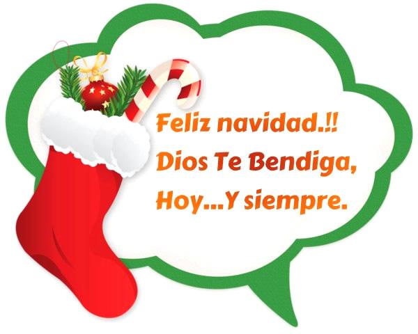 ¡Feliz Navidad! Dios te Bendiga, hoy... y siempre