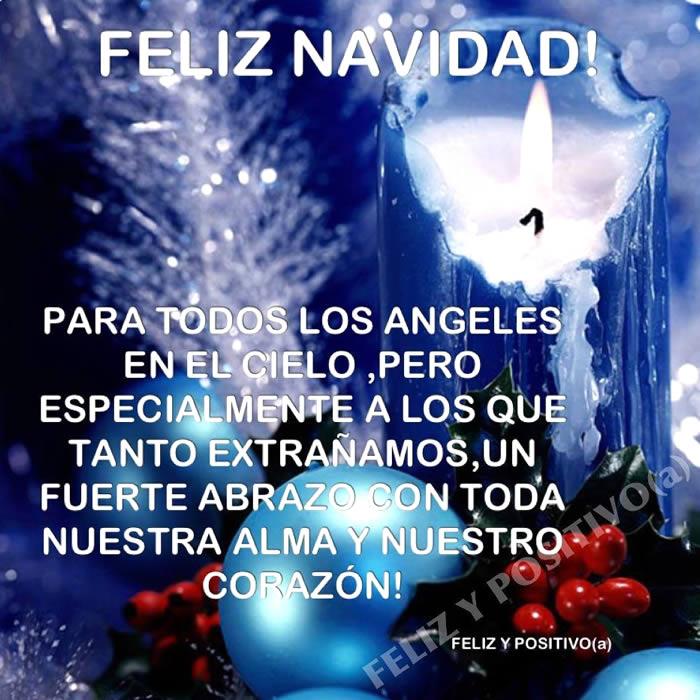 Feliz Navidad para todos los ángeles en el cielo