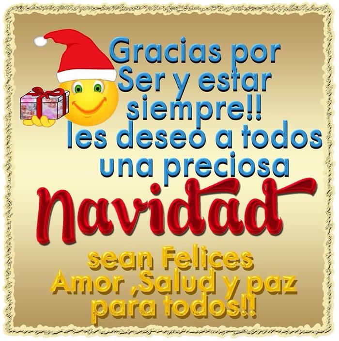 Gracias por ser y estar siempre!! Les deseo una preciosa Navidad