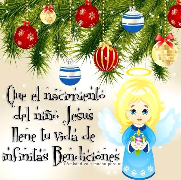 Que el nacimiento del niño Jesús llene tu vida de infinitas Bendiciones