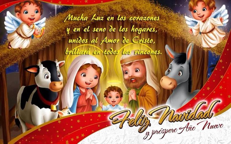 Mucha luz en los corazones Feliz Navidad y Próspero Año Nuevo