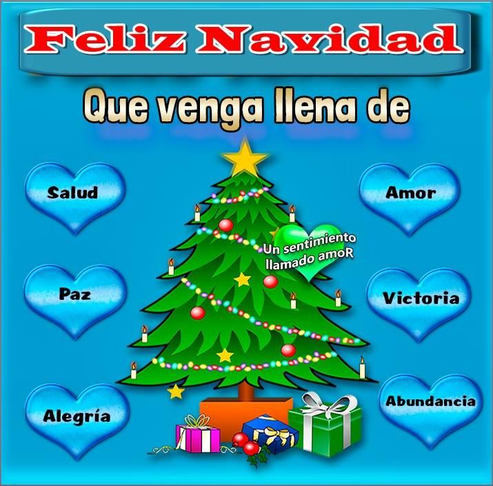 Feliz Navidad. Que venga llena de salud, amor, paz...