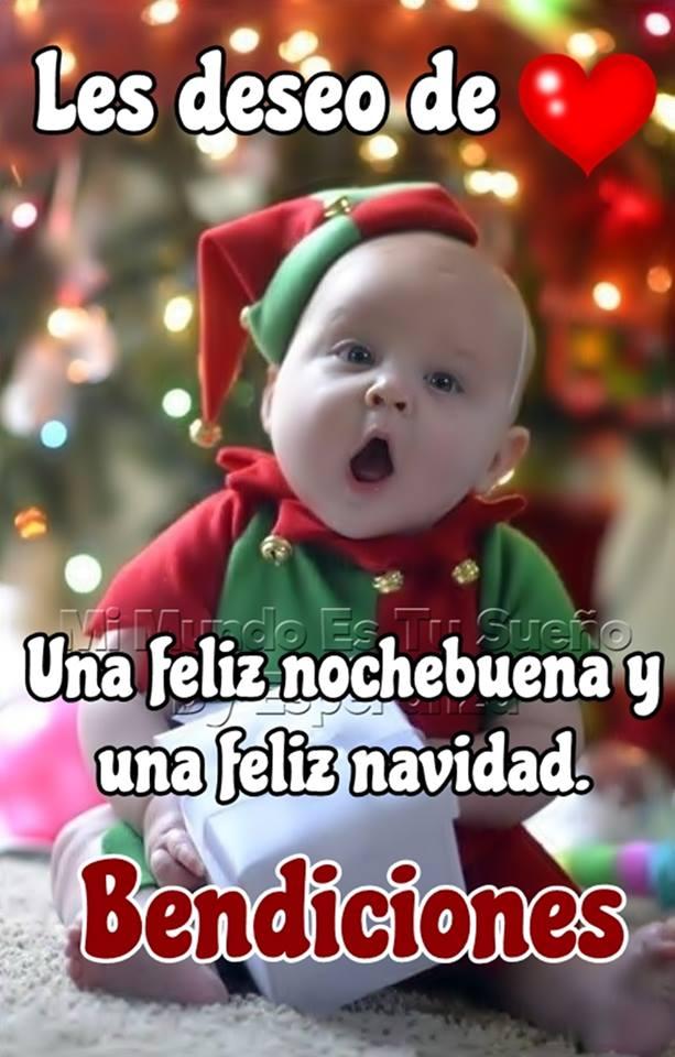 Les deseo de una feliz nochebuena una feliz navidad