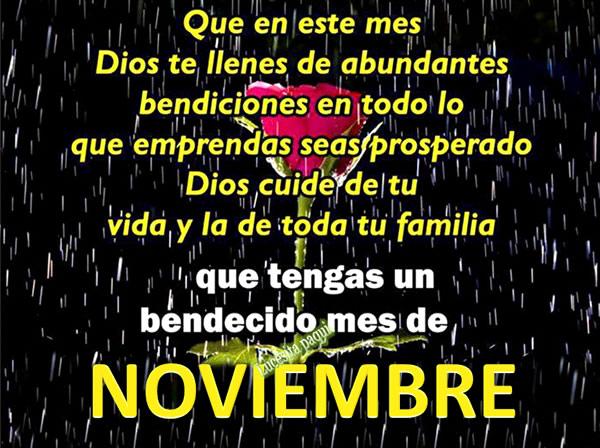 Que tengas un bendecido mes de Noviembre