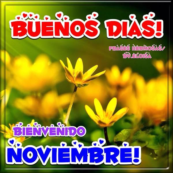 Buenos Días! Bienvenido Noviembre!