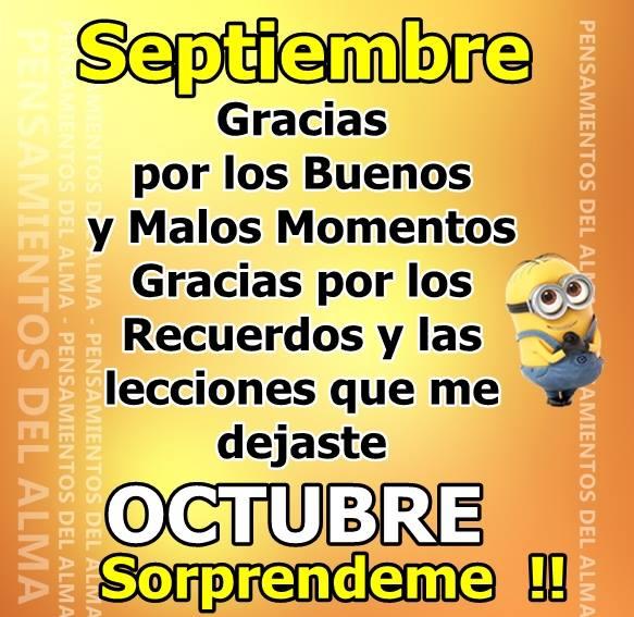 Septiembre, Gracias. Octubre...