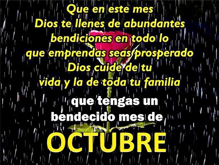 Que tengas un bendecido mes de Octubre