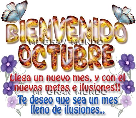 Bienvenido Octubre!