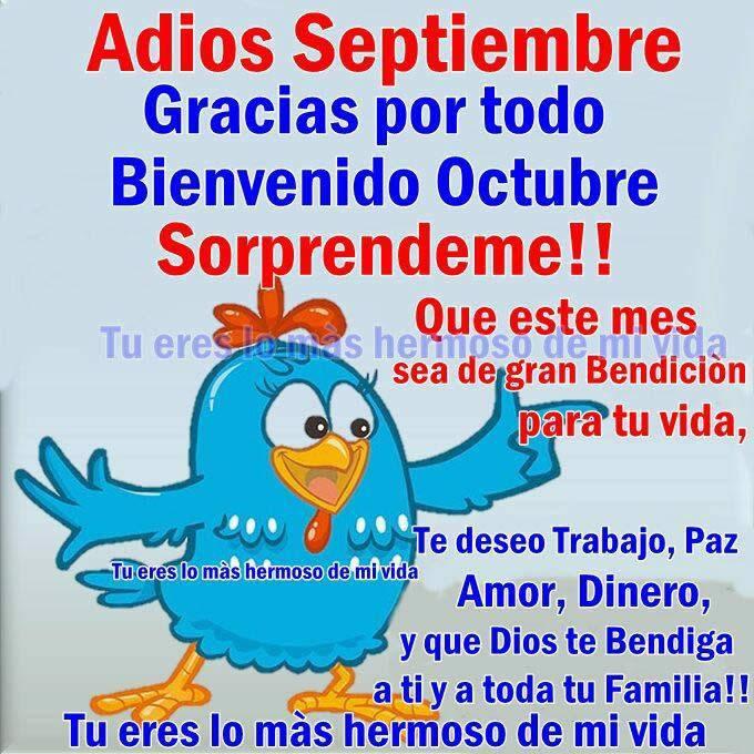 Adiós Septiembre, gracias por todo. Bienvenido Octubre, Sorprendeme!