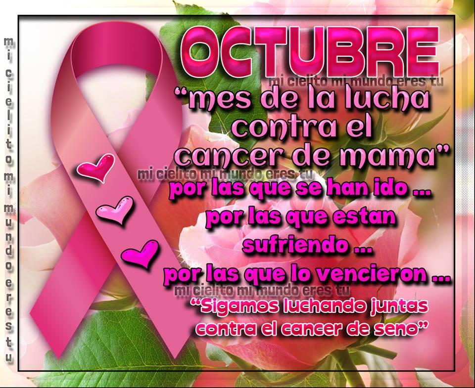Octubre... mes de la lucha contra la cáncer de mama