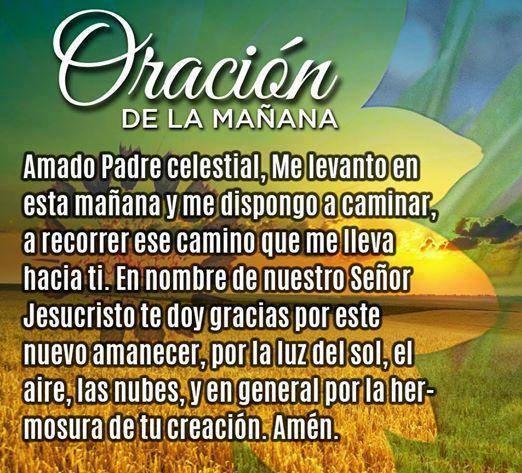 Oración de la mañana...
