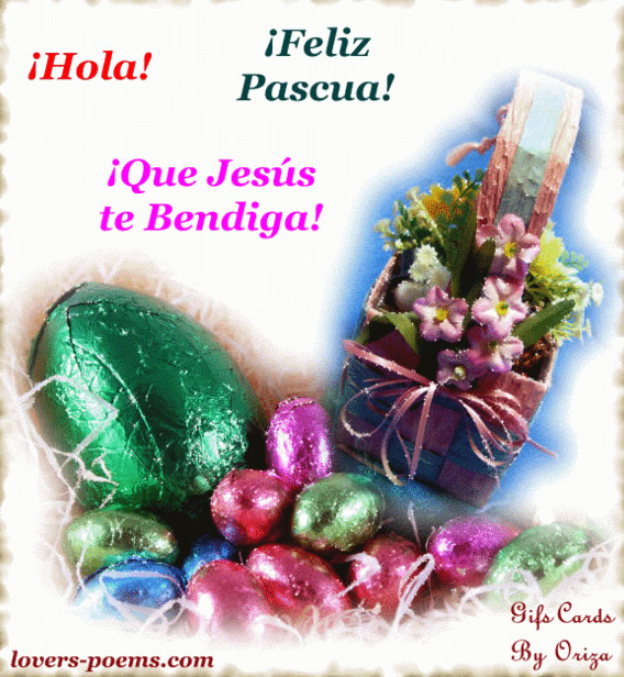 Hola! Feliz Pascua! Que Jesus te Bendiga!