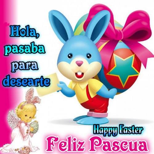 Hola, pasaba para desearte Feliz Pascua