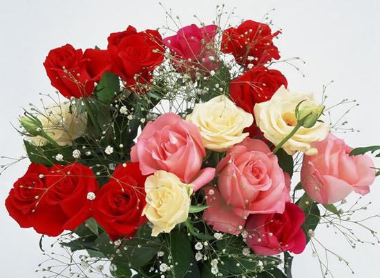 Cuadro de ramo de rosas