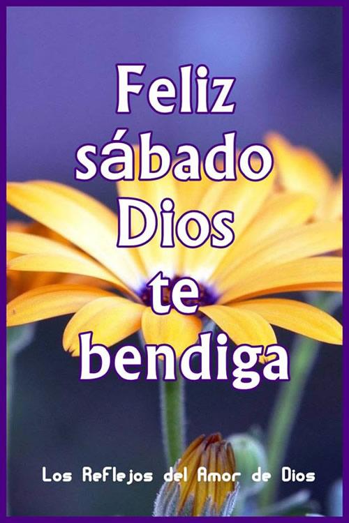 Feliz sábado, Dios te bendiga