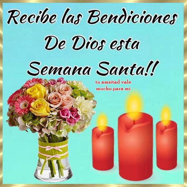 Recibe las Bendiciones de Dios esta Semana Santa!!