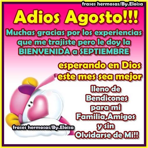 Adios Agosto! Bienvenida a Septiembre!