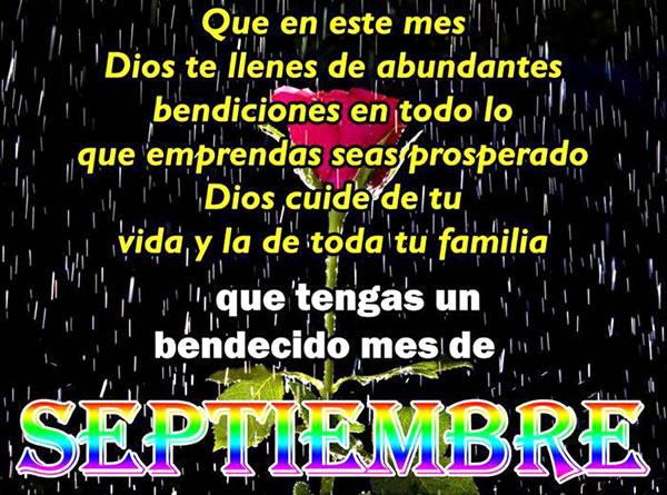 Que tengas un bendecido mes de Septiembre