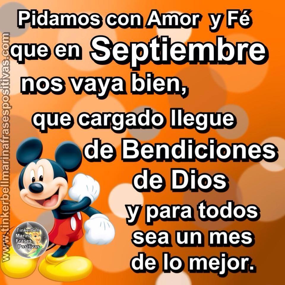 Pidamos con amor y fe que en Septiembre nos vaya buen...