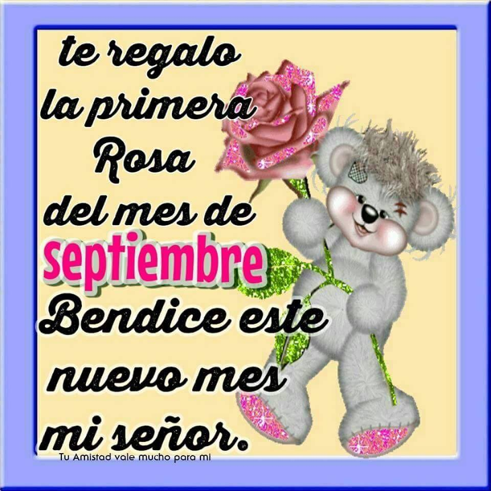 Te regalo la primera rosa del mes de Septiembre...
