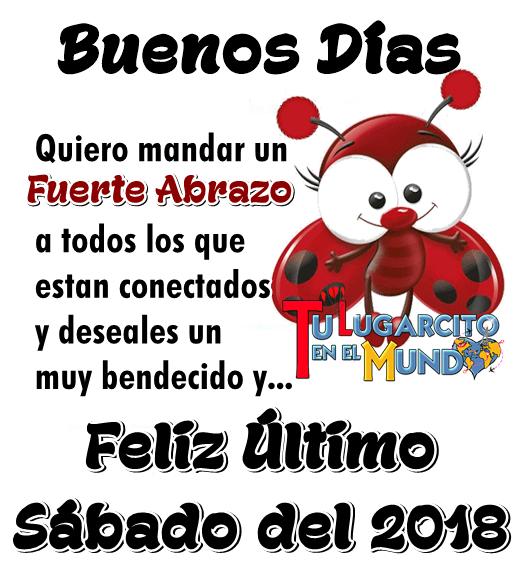 Buenos Días. Quiero mandar un fuerte abrazo a todos los que estan conectados y deseales un muy bendecido y... .Feliz Último...