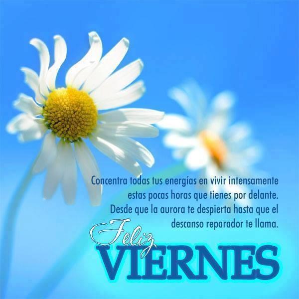 Concentra todas tus energías en vivir intensamente... Feliz Viernes