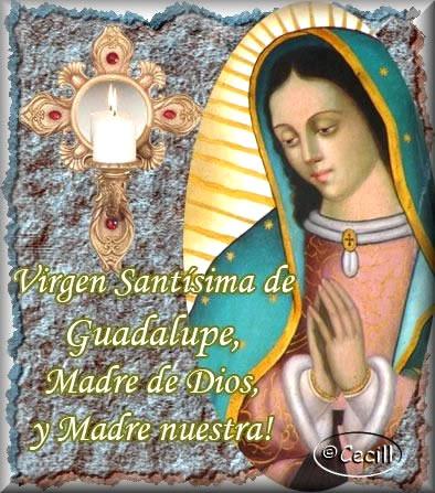Virgen Santísima de Guadalupe, Madre de Dios, y Madre nuestra!